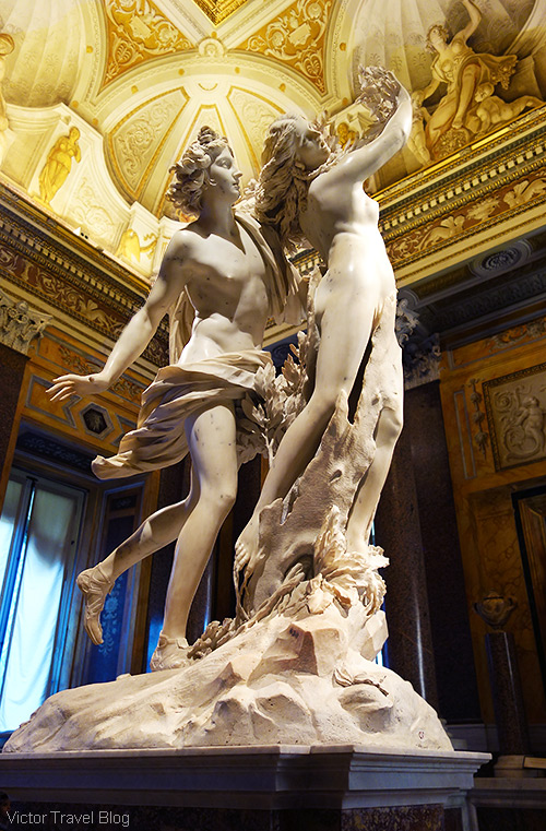 Apollo and Daphne by Gian Lorenzo Bernini. The Museo Borghese, Roma, Italy.