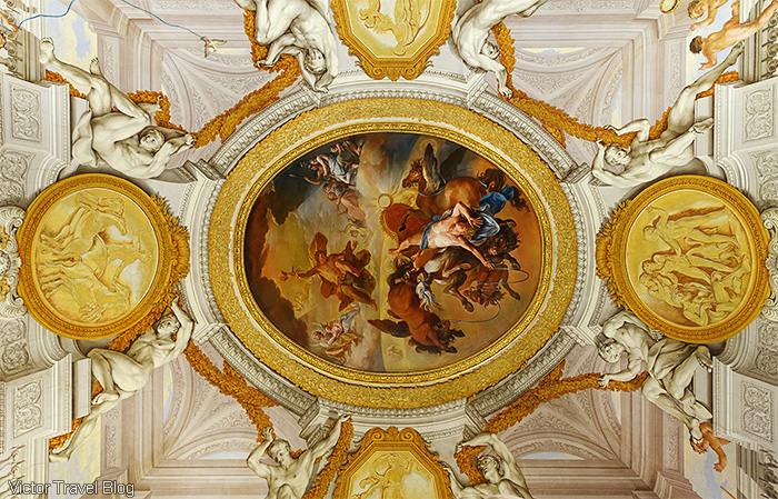 Decorated ceilings of Villa Borghese, Roma, Italy.