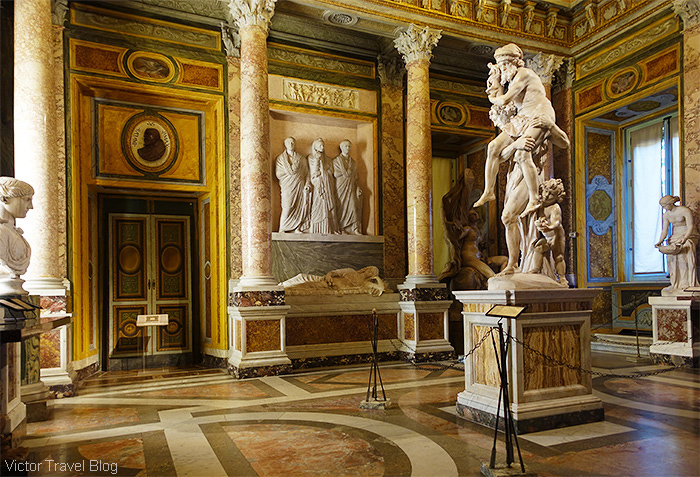 Aeneas, Anchises, and Ascanius by Gian Lorenzo Bernini. The Museo Borghese, Roma, Italy.