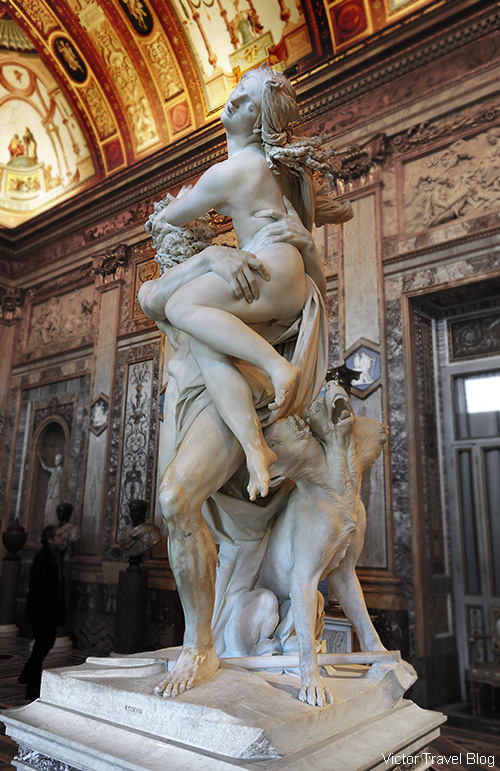 The Rape of Proserpina by Gian Lorenzo Bernini. The Museo Borghese, Roma, Italy.