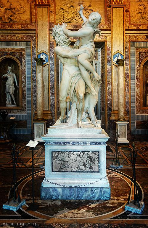 The Rape of Proserpina by Gian Lorenzo Bernini. The Museo Borghese, Roma, Italy.