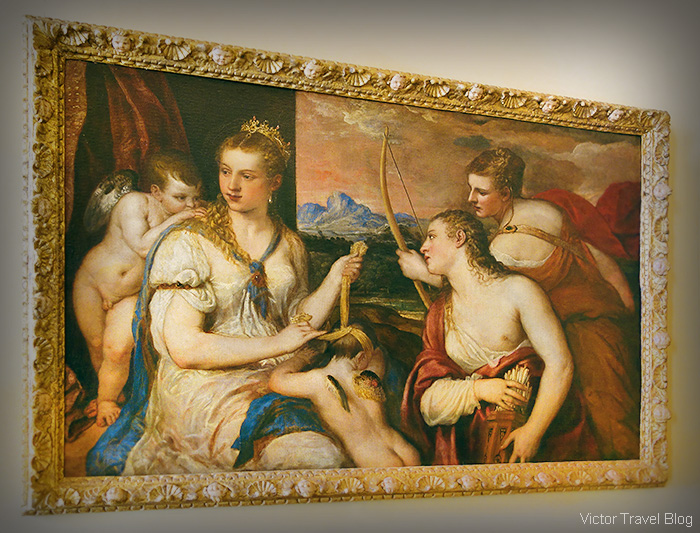 Venere. Tiziano. The Museo Borghese, Roma, Italy.