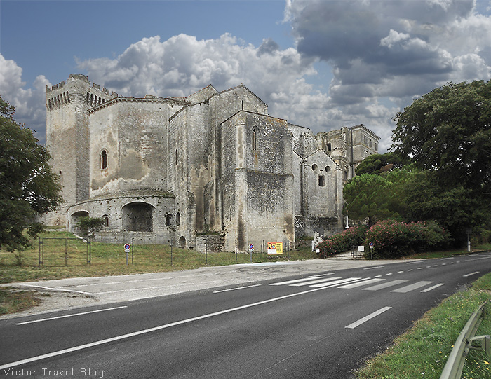 The ancient Abbaye De Montmajour near Arles, France.