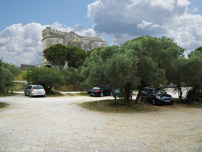 The ancient Abbaye De Montmajour near Arles, France.