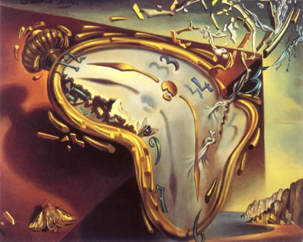 Soft Watch at Moment of First Explosion by Salvador Dali.