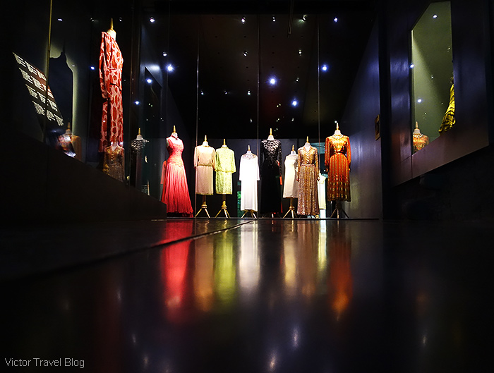 Dresses of Gala Dali. The Pubol Castle. Catalonia, Spain.