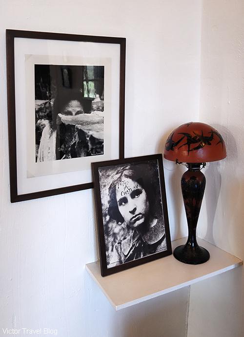 Photographs of Gala Dali in the Pubol Castle. Catalonia, Spain.