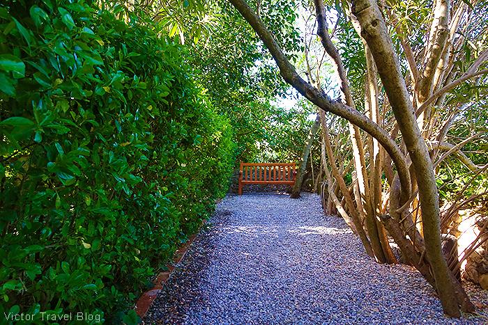 The garden of the Pubol Castle. Catalonia, Spain.