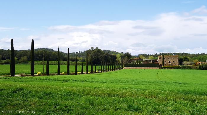 The estate near Pubol. Catalonia, Spain.