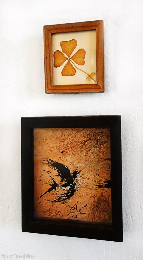 Paintings by Salvador Dali in the Pubol Castle. Catalonia, Spain.