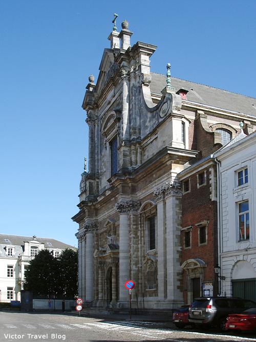 The St. Walburga Church. Bruges, Belgium.