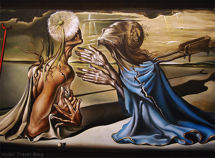 Tristan and Isolde. The Salvador Dali Museum in Figueres, Catalonia, Spain.