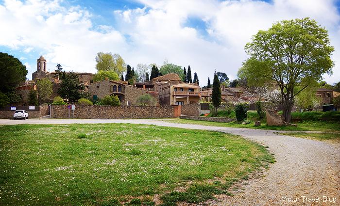 The village of Pubol. Catalonia, Spain.