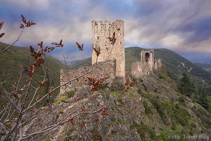 Chateaux de Lastours. Pays Cathare, Languedoc, France.