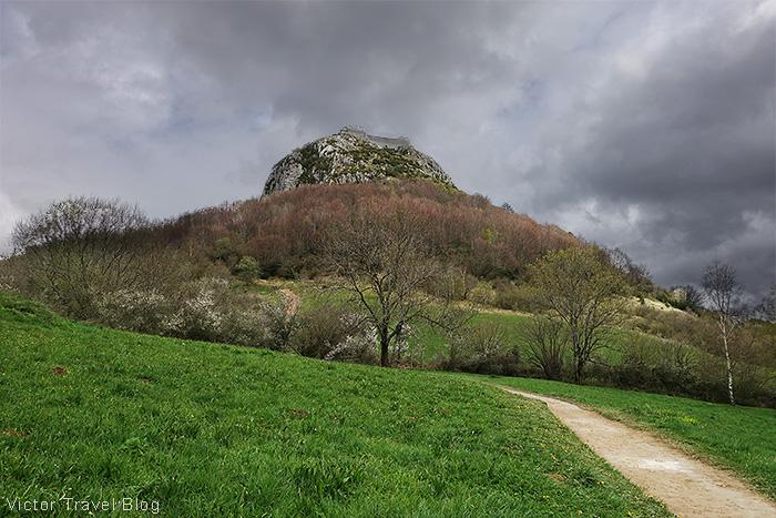 Chateau de Montsegur. Pays Cathare, Languedoc, France.