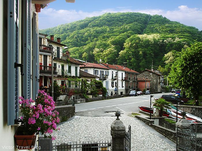 The town of Colmegna, Lake Maggiore, Italy.