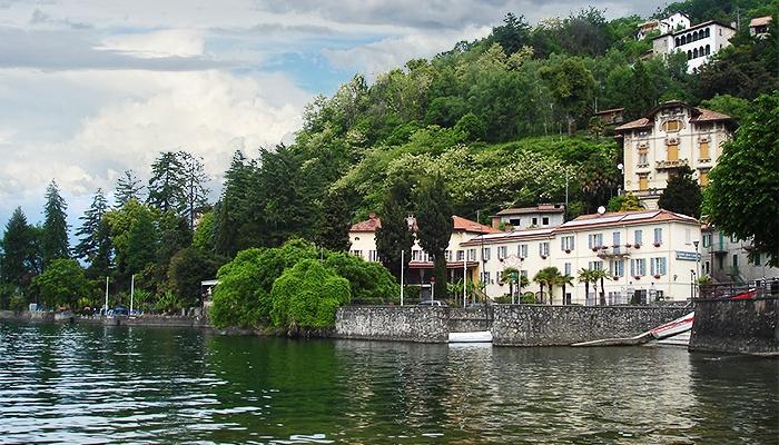 Camin Hotel Colmegna on the Lake Maggiore, Italy.