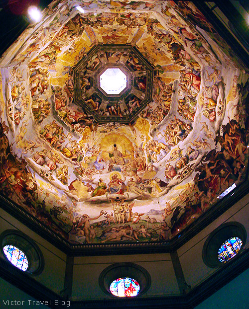 Decorated ceilings. Florence, Italy.