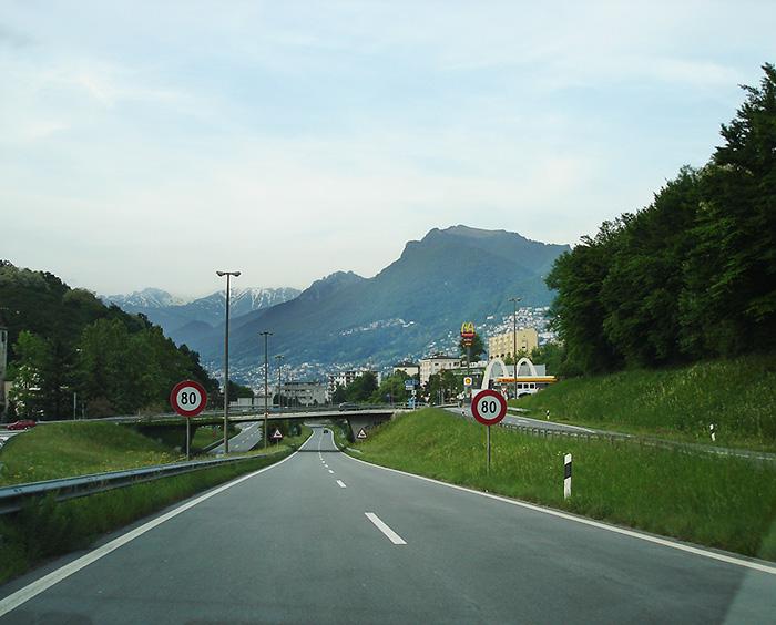 A road to Lugano.