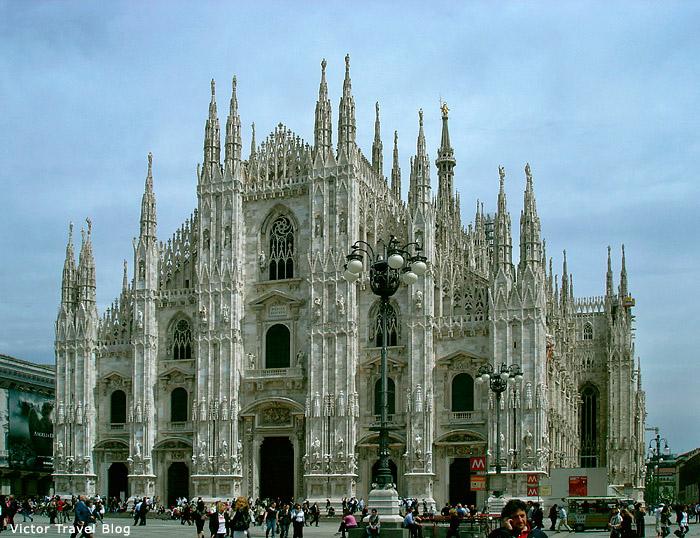 Lace of Duomo. Milan. Italy.