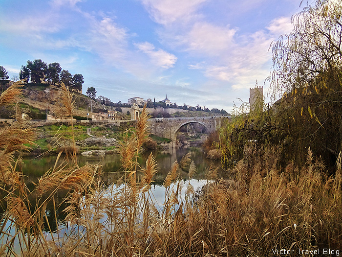 Alcantara Bridge or Puente de Alcantara. Toledo, Spain.