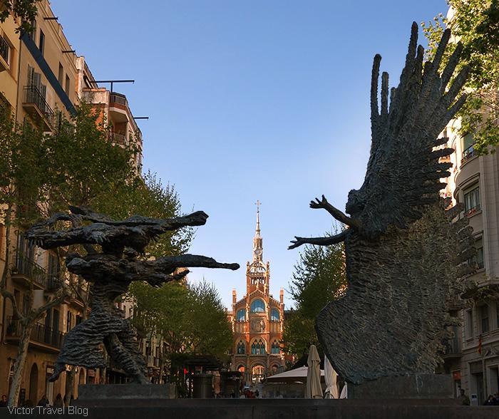 Avenue de Gaudi. Barcelona, Spain.