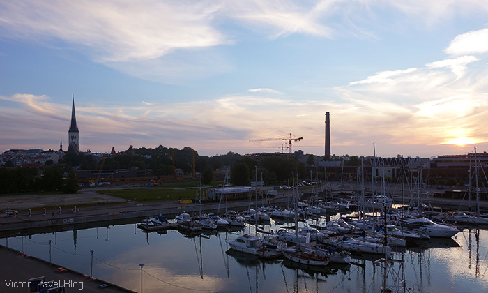 Evening in the port. Tallinn, Estonia.