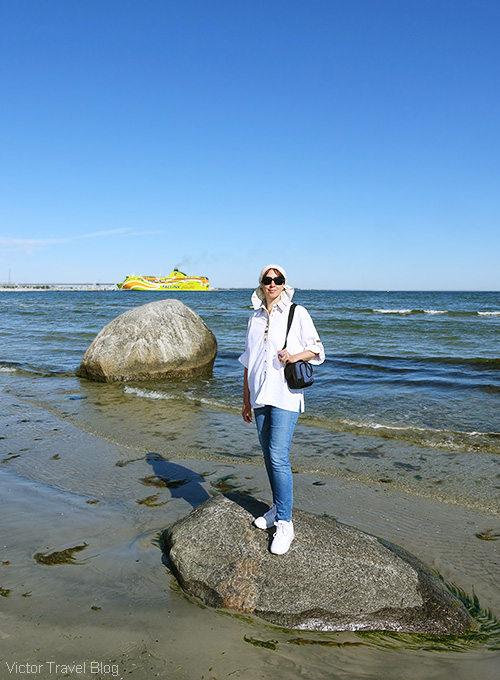 The Baltic sea. Tallinn, Estonia.