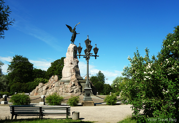 The monument of RUSALKA (Mermaid). Tallinn, Estonia.