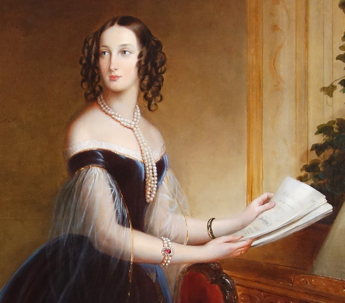 Grand Duchess Maria Nikolaevna Romanova. 1846. Oil, canvas. Kadriorg Palace, Tallinn, Estonia.
