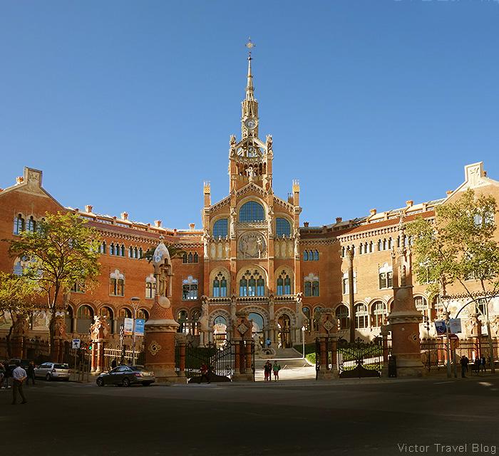 Hospital de Santa Creu i Sant Pau. Barcelona, Spain.