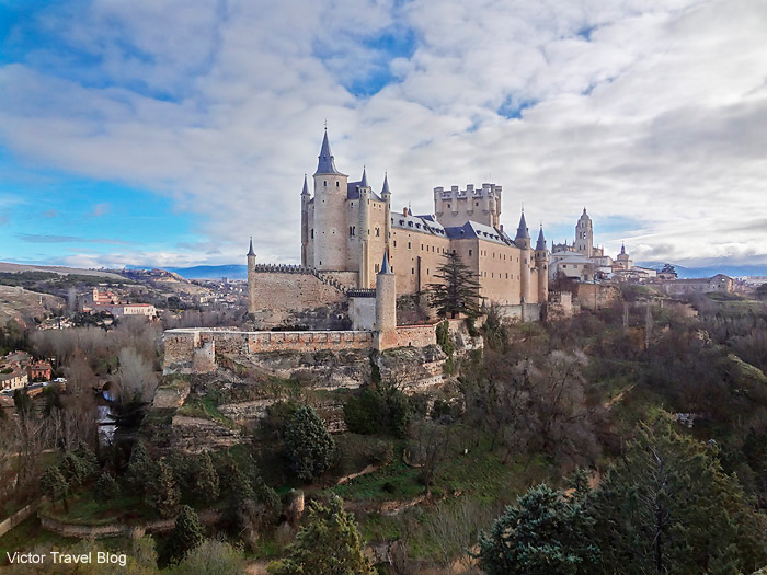 Beautiful Alkazar of Segovia, Spain.