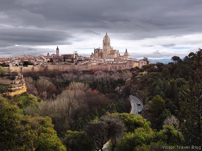 The old city of Segovia, Spain.