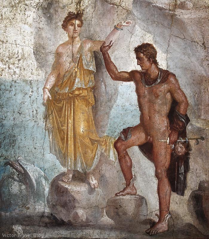 Frescoe. Naples Archaeological Museum, Italy.