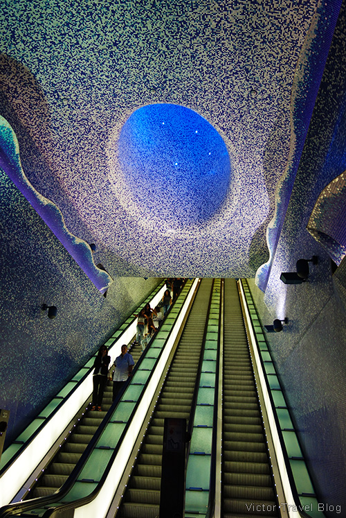 Toledo metro station in Naples, Italy.