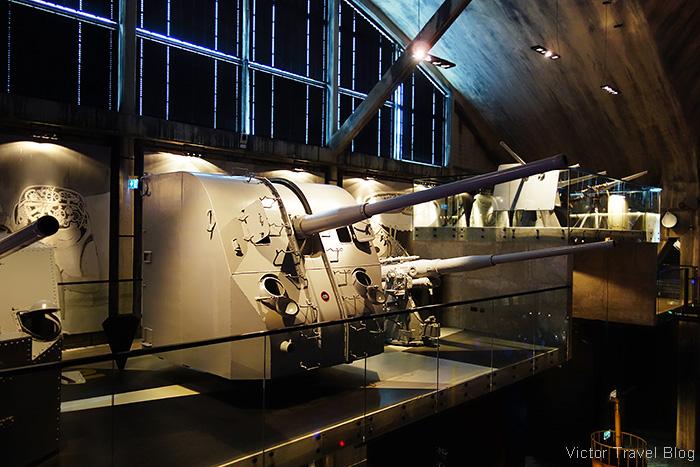 Anti-aircraft guns. Estonian Maritime Museum, Tallinn.