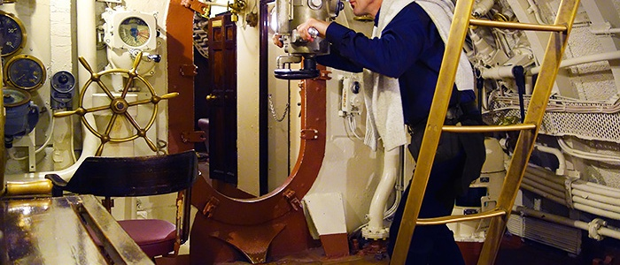 The engine of the Lembit submarine. Estonian Maritime Museum, Tallinn.
