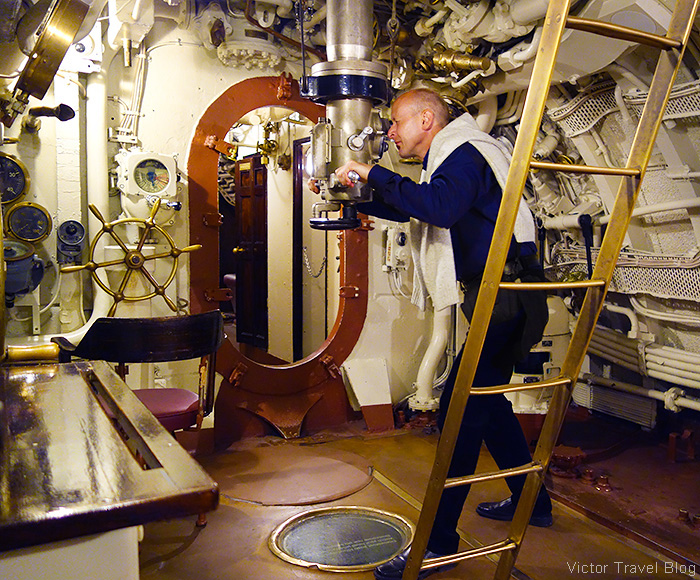 On board of the Lembit submarine. Estonian Maritime Museum, Tallinn.