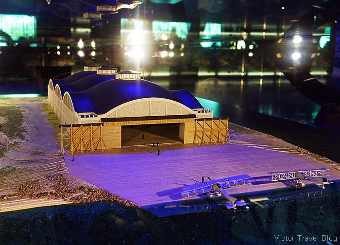 The model of the Seaplane Harbour, Tallinn, Estonia.