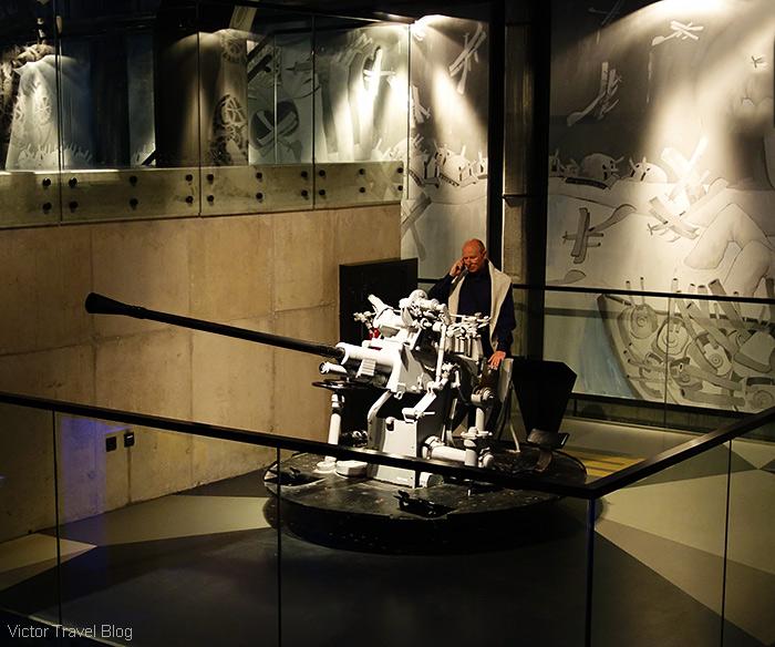 A navy anti-aircraft gun. Estonian Maritime Museum, Tallinn.
