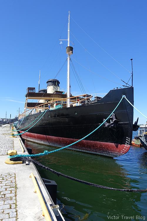 The Suur Toll icebreaker. The Seaplane Harbour, Tallinn, Estonia.