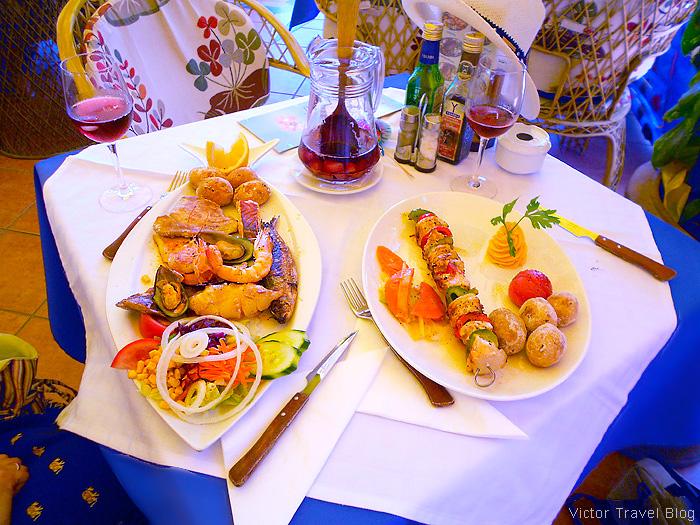 Seafood of Tenerife, Canary Islands, Spain.
