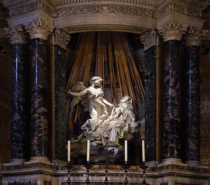 Ecstasy of Saint Teresa by Gian Lorenzo Bernini. Santa Maria della Vittoria, Rome, Italy.
