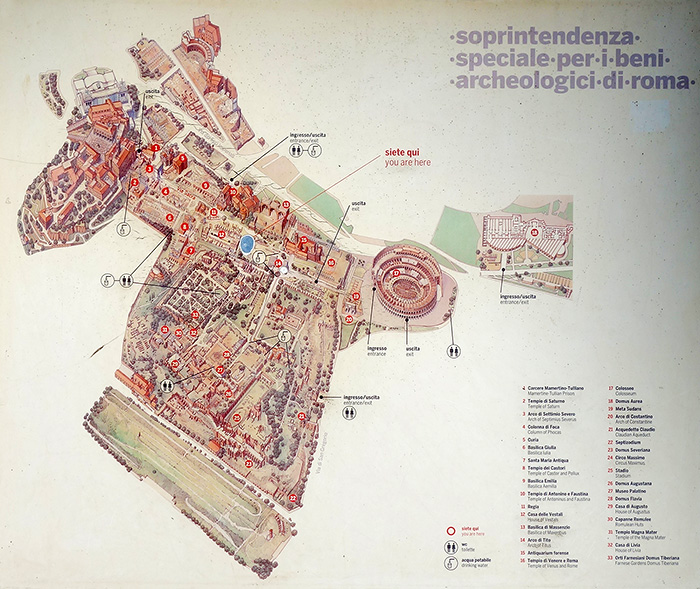 A map of the Roman Forum.
