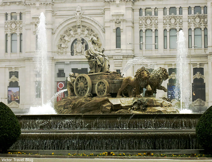 Cibeles fontain. Madrid. Spain. An interesting fact about Madrid: the gold reserves of Spain is saved under this fontain at a depth of 40 meters in the bunker.