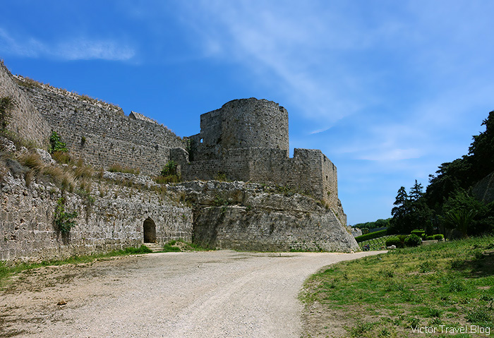 Medieval fortifications of Rhodes city, Greece.