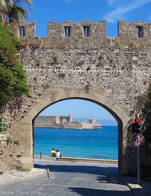 The old city of Rhodes, Greece.
