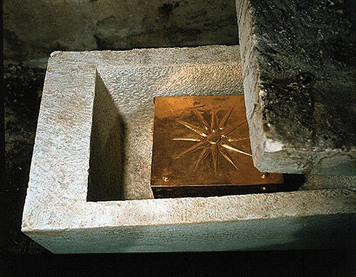 A golden casket with the remains of the Macedonian king, Philip II.