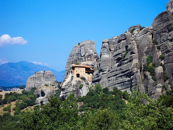 Moni Agios Nikolaos Anapafsas, Meteora, Greece.