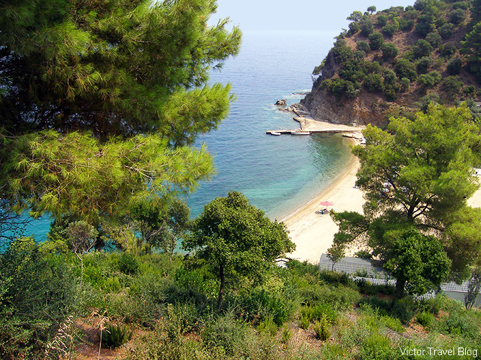 One of the Halkidiki beaches, Greece.